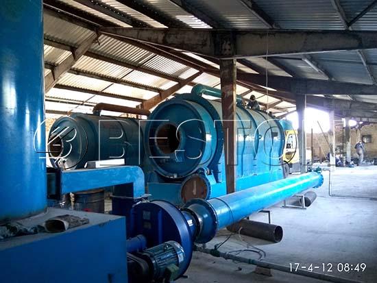 Waste Plastic Pyrolysis Machine in Hungary